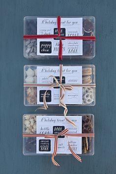 holiday treat boxes.