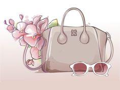 the it bag illustration