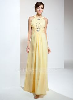 Prom Dresses - $128.99 - A-Line/Princess Halter Floor-Length Chiffon Prom Dress With Ruffle Beading (018020617) http://jjshouse.com/A-Line-Princess-Halter-Floor-Length-Chiffon-Prom-Dress-With-Ruffle-Beading-018020617-g20617?ver=xdegc7h0