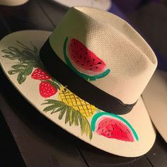 Behind The Scenes By karla_artg Painted Hats, Hand Painted, Drawing Hats, Mexican Hat, Pastel House, Amazing Gardens, Behind The Scenes, Diy And Crafts, Christmas Cards