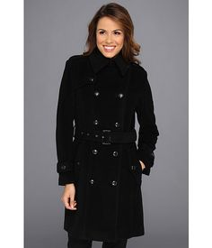 My COAT!!! So Comfy and Warm .. Lovvvvve IT <3    Cole Haan Wool Plush Double-Breasted Trench