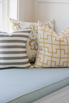 beautiful fabrics...grey, mustard, green, blacks, purples. all of these colors in my home please