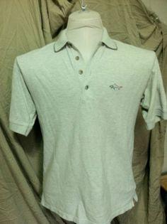 Men's Golf Shirt Medium 100% Cotton Greg Norman Collection Shark