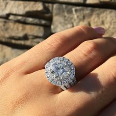 CtWhite Round Diamond Halo Engagement Wedding Ring Set Solid White Gold - Gold Engagement - Ideas of Gold Engagement Ring - 0 The post CtWhite Round Diamond Halo Engagement Wedding Ring Set Solid White Gold appeared first on Awesome Jewelry. Engagement Wedding Ring Sets, Designer Engagement Rings, Diamond Engagement Rings, Wedding Rings, Engagement Ideas, Halo Diamond, Diamond Rings, Beautiful Rings, White Gold