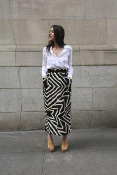 a printed skirt