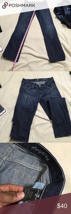Seven for all mankind Size 27 straight leg 7 For All Mankind Jeans Straight Leg