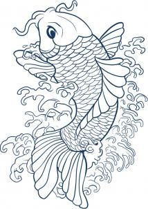how to draw a koi step 7