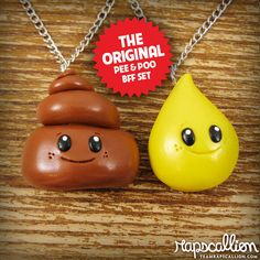 Hey, I found this really awesome Etsy listing at http://www.etsy.com/listing/82680638/bff-best-friends-necklace-set-pee-and
