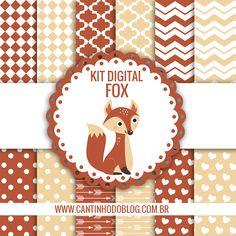 KIT DIGITAL RAPOSINHA GRÁTIS PARA BAIXAR - Cantinho do blog Digital Scrapbook Paper, Kit, Free Paper, Baby Boy Shower, Monster High, Doodles, Paper Crafts, Clip Art, Frame
