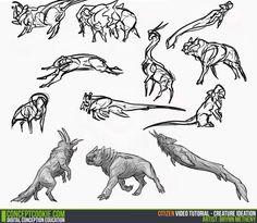Tutorial: Creature Ideation Artist: Brynn Metheney http://cgcookie.com/concept/2014/09/16/creature-ideation/