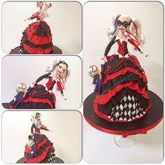 Suicide squad Harley Quinn doll birthday cake