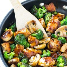 This recipe forchicken and broccoli stir fryis a classic dish of chicken sauteedwith fresh broccoli florets and coated in a savory sauce.