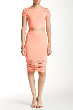 Two-Piece Set Bodycon Dress by Wow Couture on @HauteLook