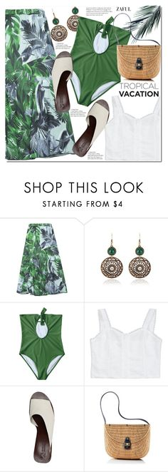 """Welcome to Paradise: Tropical Vacation"" by duma-duma ❤ liked on Polyvore featuring Mercedes Castillo, Mark & Graham and TropicalVacation"