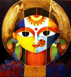 artworks by Meenakshi Jha Banerjee at: http://www.indianartcollectors.com/artist/MeenakshiJhaBanerjee