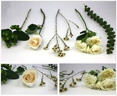 Flowers needed to make a white bouquet! Click link to see step by step how to make a white bouquet!