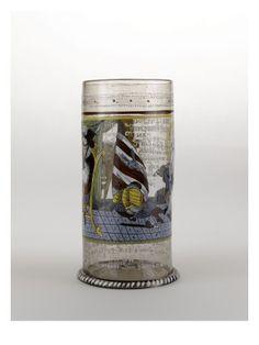 Humpen en verre émaillé - Musée national de la Renaissance (Ecouen)