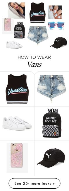 """""""summer time fun"""" by drock96 on Polyvore featuring New Look, House of Holland, Skinnydip, Puma, One Teaspoon, Vans and adidas"""