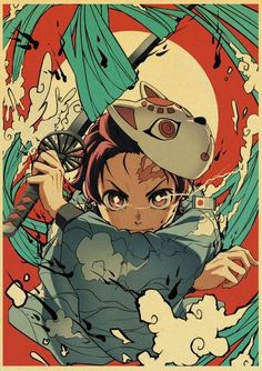 Demon Slayer: Kimetsu no Yaiba Tanjirou Nezuko Anime Poster Kraft Paper Vintage Posters Home Room Art Wall Stickers - 42X30cm / E169 / China