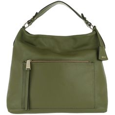 Abro Shoulder Bag - Adria Leather Handbag Khaki - in green - Shoulder... (6 495 UAH) ❤ liked on Polyvore featuring bags, handbags, shoulder bags, green, man leather shoulder bag, green tote bag, green leather purse, green leather tote and leather shoulder bag