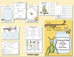 Insect thinking maps- Awesome themed thinking maps for primary grades.