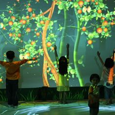 Funky Forest was an educational platform which is held in 'SAM at 8Q' extension of Singapore Art Museum which featured imaginative and interactive art of various artists. Three Panasonic PT-D6000 projectors were used in the exhibition to entertain the school children.