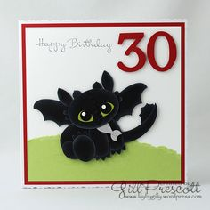 Happy Birthday #card by Gill Prescott - How To Train Your Dragon #papercrafts