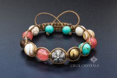 Göttin Blume Frauen Shamballa Edelstein Armband von CruxCrystals