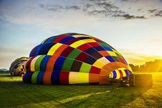 Let the journey begin. Magaliesburg Hot Air Balloon Safari. South Africa