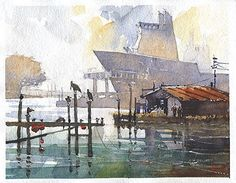Coden Shipworks No.24 by Iain Stewart  ~ 8 x 10