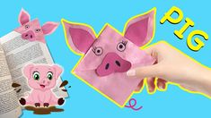How to Make Easy Pig Corner Bookmark DIY. Watch and see Easy Corner Bookmark with Pig DIYs and Piggy Crafts. Don't forget to subscribe for easy paper crafts for kids. Paper Crafts For Kids, Diy Paper, Diy Crafts, Paper Bookmarks, Corner Bookmarks, Make It Simple, Pikachu, Don't Forget, Diys