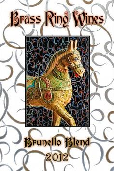 Carousel inspired custom wine label from Noontime Labels