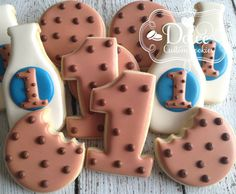 Milk & Cookies Milk and Cookies First by DolceCustomCookies