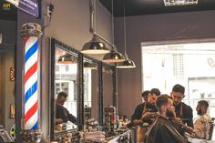 Barber Shop Interior, Barber Shop Decor, Salon Interior Design, Industrial House, Vintage Industrial, Industrial Style, Irori, Barbershop Design, Barbershop Ideas