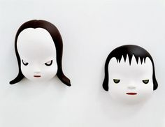 Yoshitomo Nara.  Photography by Joshua White / JWPictures.com   #JoshuaWhitePhotography  #JWPictures #Art #Sculpture #YoshitomoNara #Japanese #masks