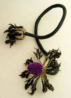 Beautiful floral beaded jewelry