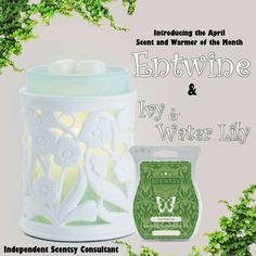 April scent & warmer of the month! This warmer is gorgeous & will go with any spring decor! The scent is very light & refreshing with a hint of florals. Check out more scents & warmers on my website morganboutwell.scentsy.us