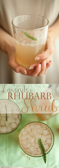Produce On Parade - Lavender Rhubarb Shrub: the rhubarb is delightfully tart in this sugary, sour shrub and the lavender lends a summery, floral essence.