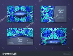 Vector Vintage Visiting Card Set. Floral Mandala Pattern And Ornaments. Oriental Design Layout. Islam, Arabic, Indian, Ottoman Motifs. Front Page And Back Page. - 375384730 : Shutterstock