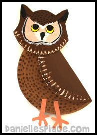Owl Paper Plate Craft from www.daniellesplace.com