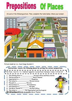 Hi everybody! I drew this map for my students. I hope you like it. Here sts will practice about prepositions. In, on, behind, in front of, next to, far from, near, between, among. Thanks for your kind comments - ESL worksheets