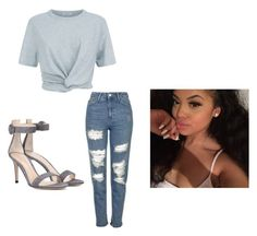 """""""Not too sure about this one 😞😩"""" by jasmine-o28 ❤ liked on Polyvore featuring T By Alexander Wang, Topshop and Gianvito Rossi"""