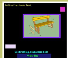 Building Plans Garden Bench 064514 - Woodworking Plans and Projects!