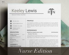 Excited to share the latest addition to my #etsy shop: Registered Nurse Resume Template, Nurse Resume Template for Word, Nurse Resume Template Word with cover letter, RN Resume Template, Resume #nurseresumetemplate Student Nurse Resume, Registered Nurse Resume, Rn Resume, Manager Resume, Nursing Resume Template, Resume Templates, Cover Letter Template, Letter Templates, Planner Template