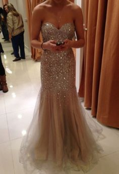 Sparkly Beads and Sequins Evening Party Dress ,Long Prom Dresses 2015