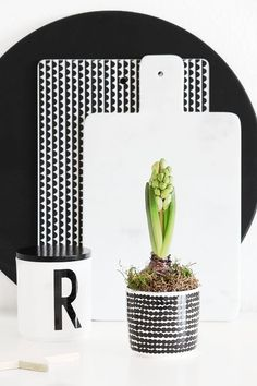 Télűző virágos ötletek otthonodba, avagy induljon a tavasz hadművelet! Monochrome Interior, Bohemian Interior Design, Kitchen Interior, Kitchen Design, Kitchen Decor, Kitchen Goods, Kitchen Styling, Marimekko, Black And White Love