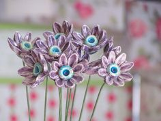 Ceramic flowers Table centerpiece  Hostess gift in a by orlydesign, $80.00