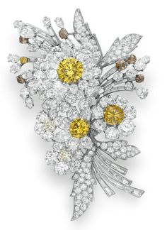 BVLGARI diamond brooch formerly owned by Elizabeth Taylor ~ Christie's