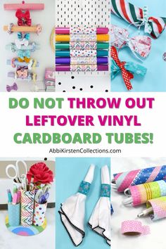 Cardboard tube crafts - If you have tons of leftover cardboard tubes in your craft room like me you might be wondering how to repurpose them! Check out these 6 clever ideas to repurpose left over cardboard tubes for organization, decor and gifts!