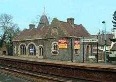 Helen's Bay Railway Station, Co Down, Northern Ireland.